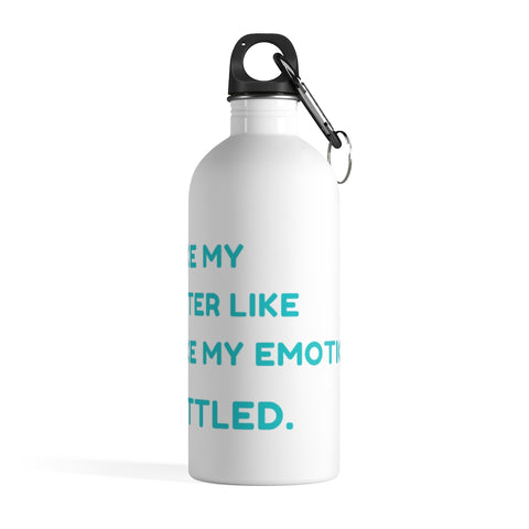Funny Water Bottle - No Emotions