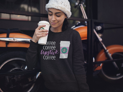 Coffee and Lipstick Sweatshirt