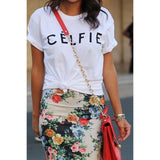 CELFIE Printed Short-Sleeve Fashion Tee