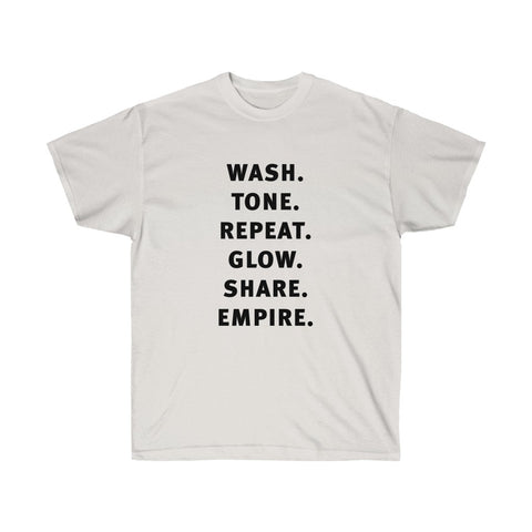 Wash Tone Repeat Flow Share Empire Shirt