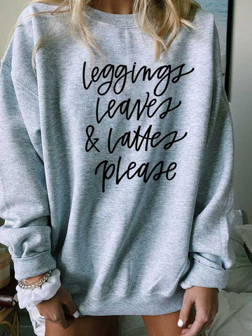 Leggings Leaves & Lattes Please