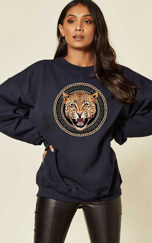TIGER CHAIN CREW SWEATSHIRT