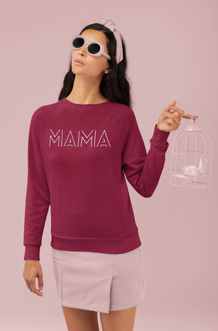 Decorative Print Mama Sweatshirt