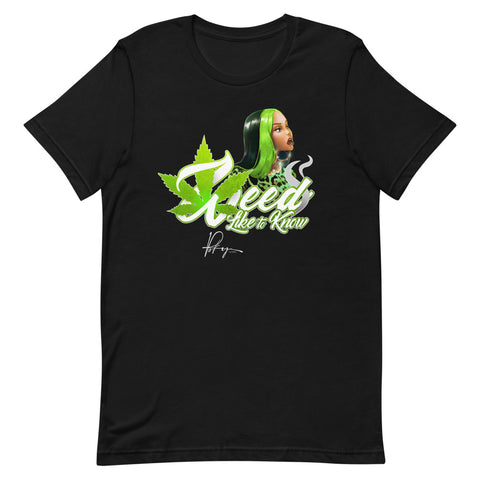 WEED LIKE TO KNOW SHIRT- BLACK