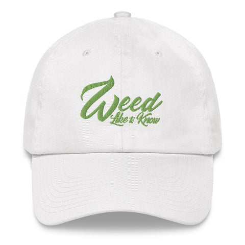 WEED LIKE TO KNOW HAT - WHITE