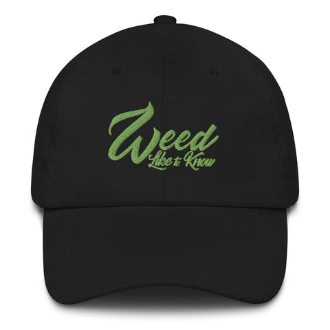 WEED LIKE TO KNOW HAT - BLACK
