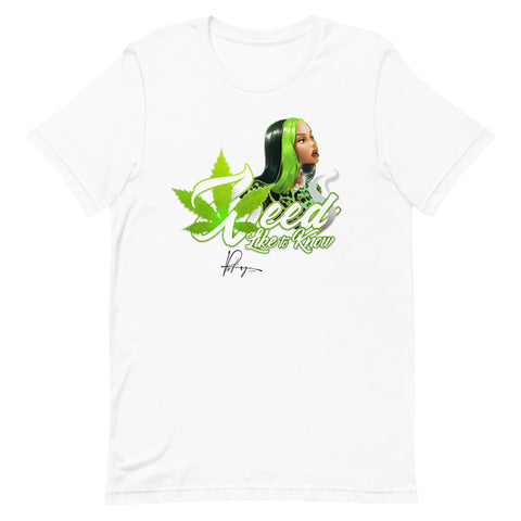 WEED LIKE TO KNOW SHIRT - WHITE