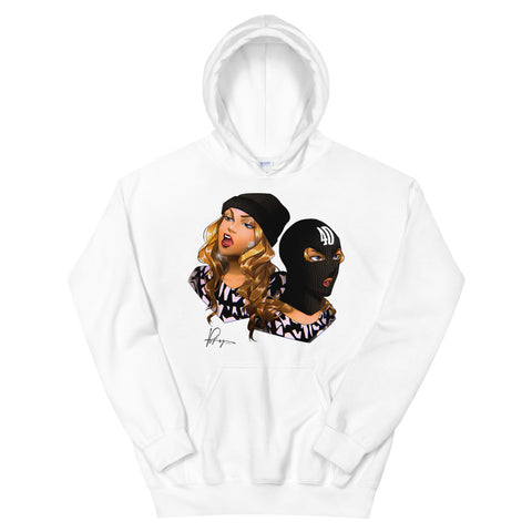 Masked Up 40 Hoodie - WHITE