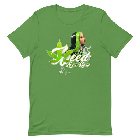 WEED LIKE TO KNOW SHIRT - LEAF GREEN