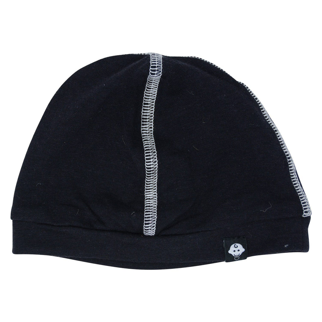 Baby Cap - Black Solid - Sweet Bamboo