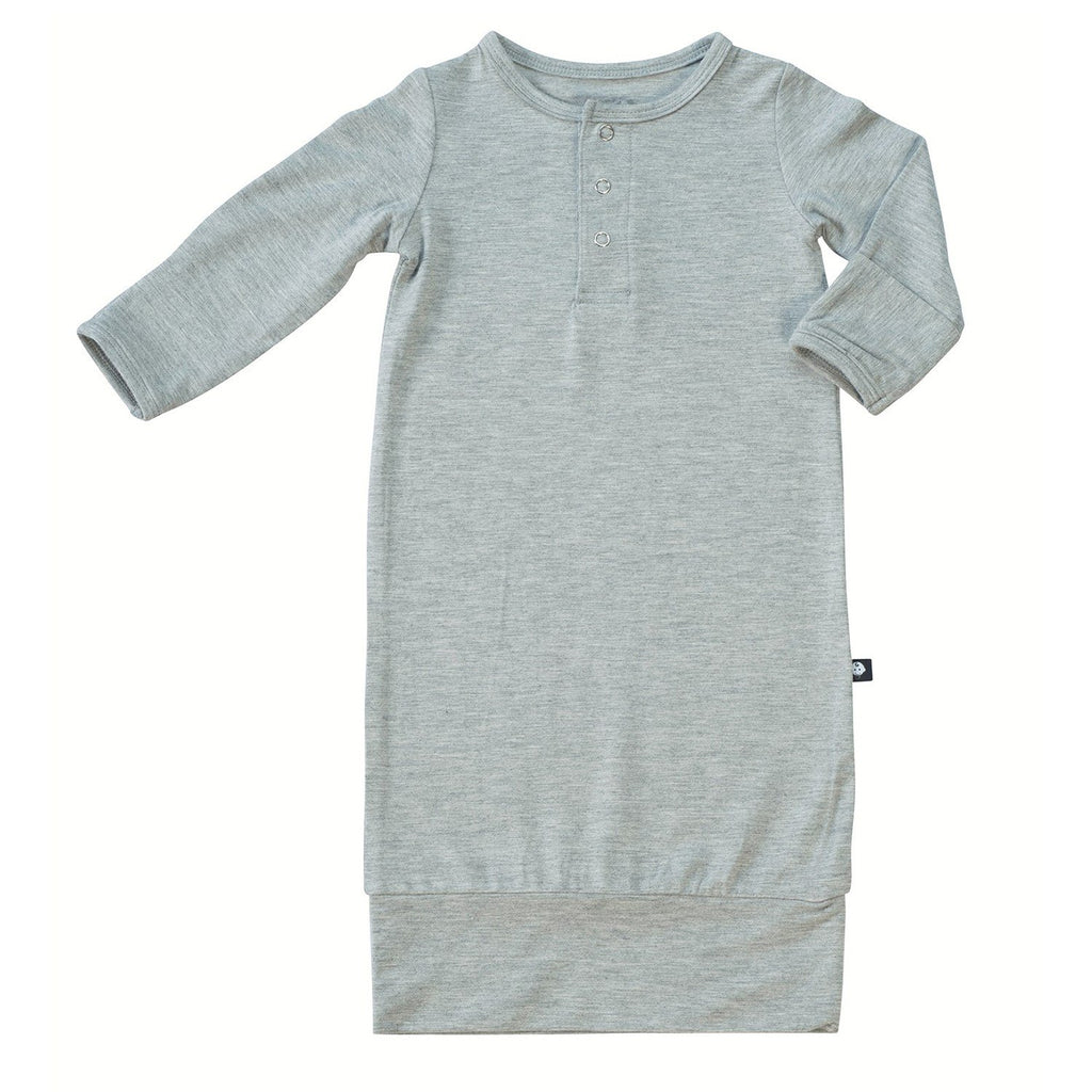Banded Gown - Grey Heather - Sweet Bamboo