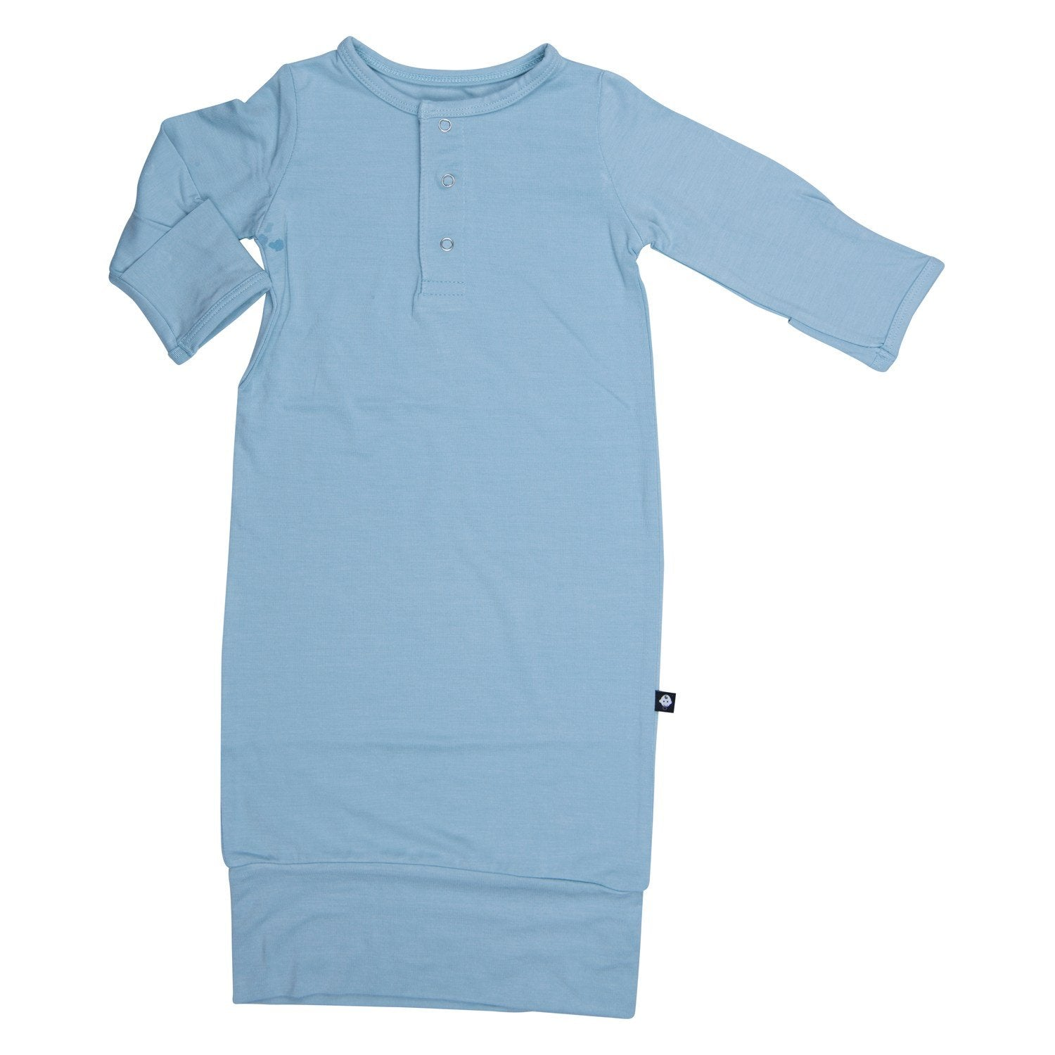 Banded Receiving Gown - Bashful Blue - Sweet Bamboo