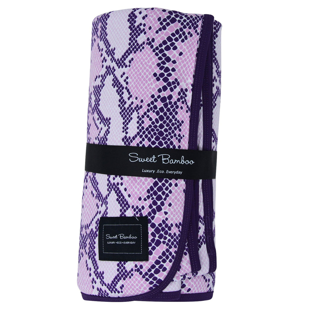 Big Kid Blanket  - Purple Snake - Sweet Bamboo