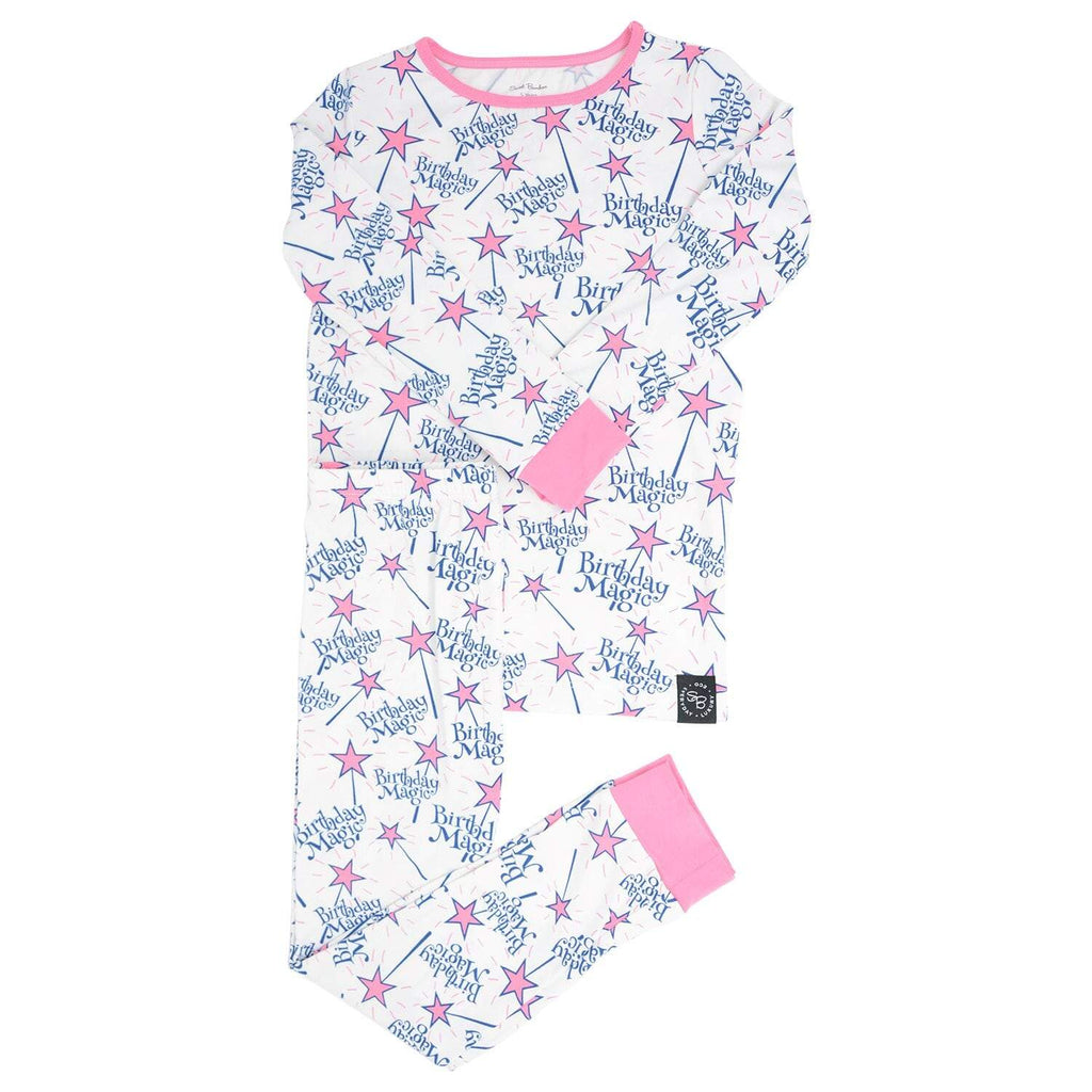 Big Kid PJ's Long Sleeve Top & Long Bottom - Magical Birthday - Sweet Bamboo