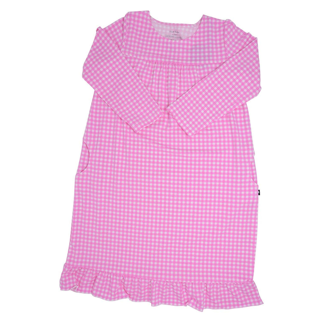 Boho Dress - Pink Gingham - Sweet Bamboo