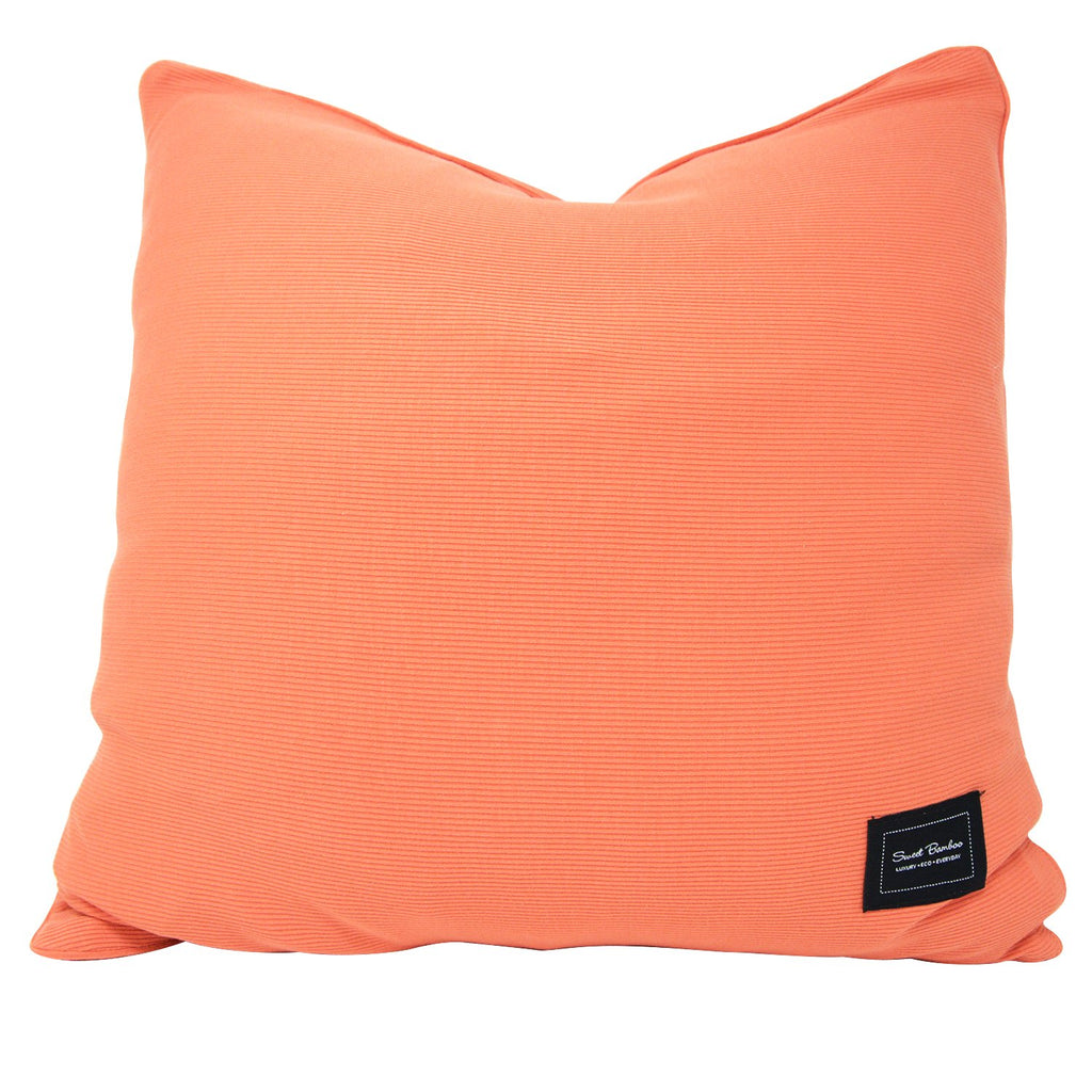 Decorative Pillow Sham (Square) - Apricot Ribbed - Sweet Bamboo