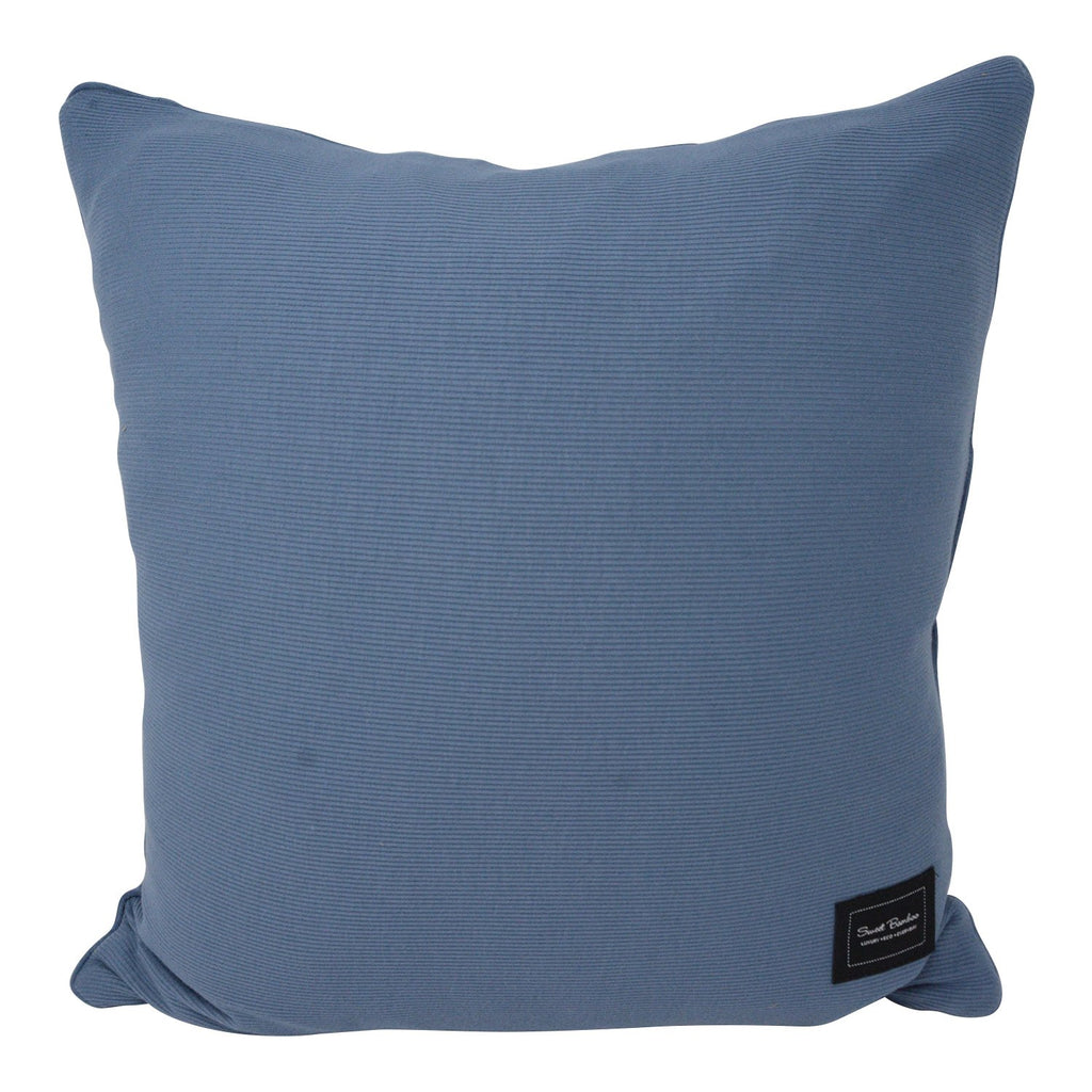 Decorative Pillow Sham (Square) - China Blue Ribbed - Sweet Bamboo
