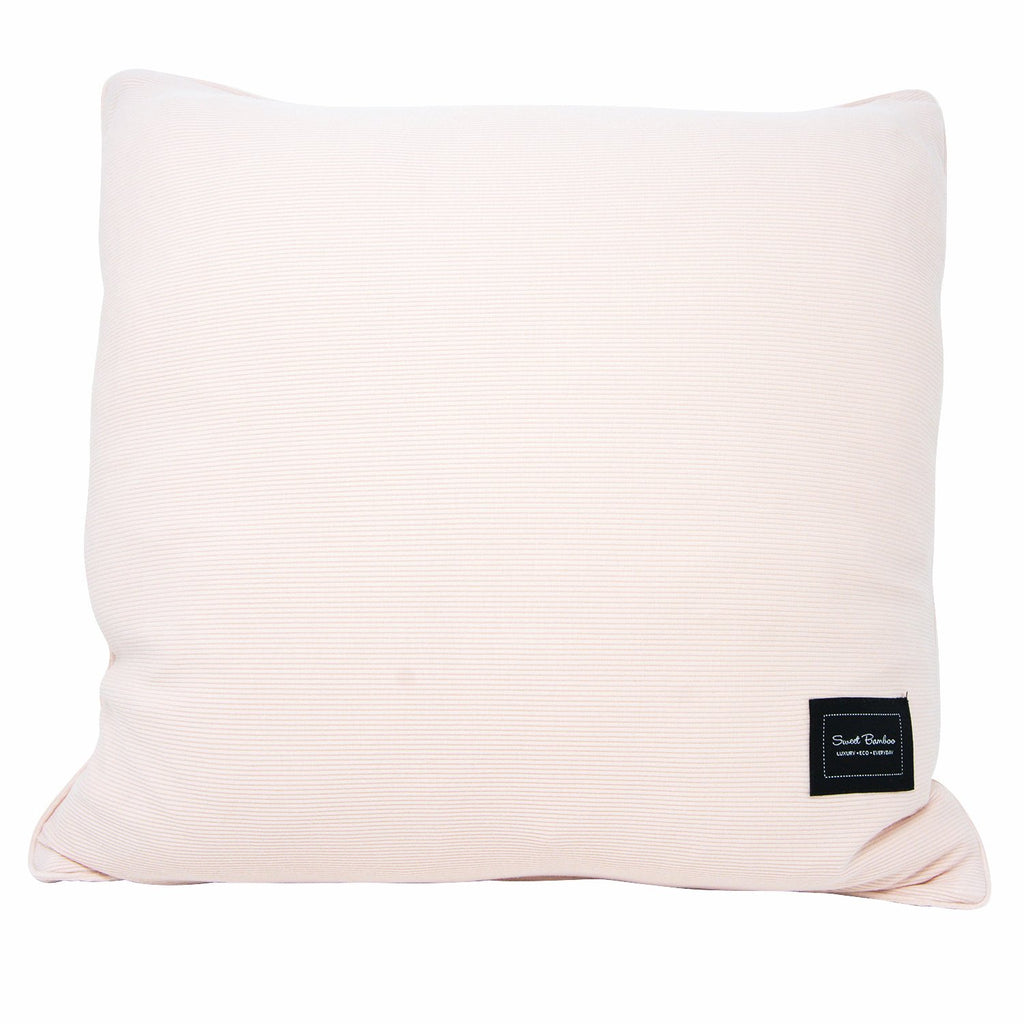 Decorative Pillow Sham (Square) - Pink Blush Ribbed - Sweet Bamboo