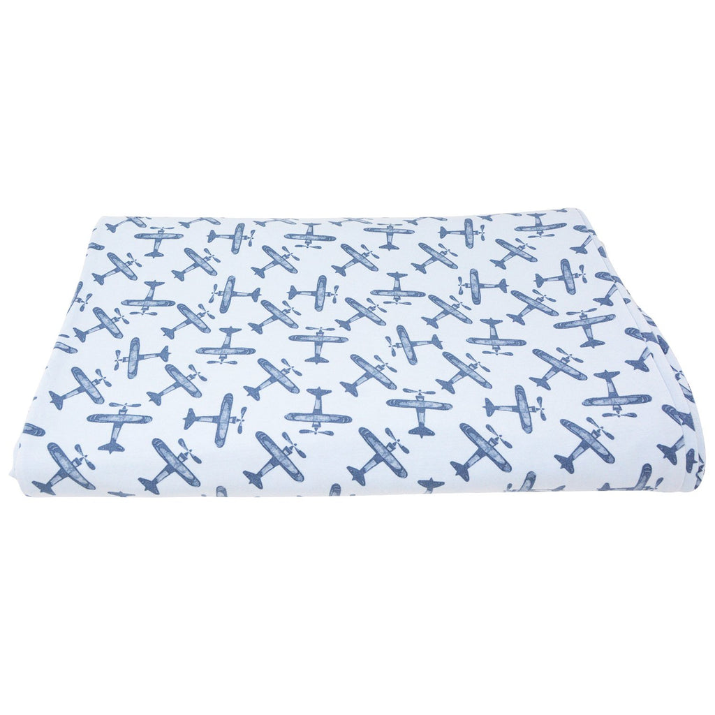 Duvet Cover Twin - Airplane Blue - Sweet Bamboo