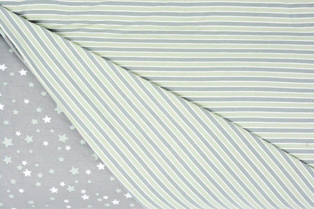 Duvet Cover Twin - Stars Green - Sweet Bamboo