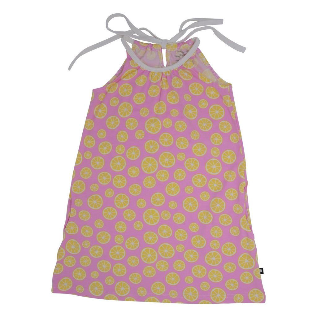 Egyptian Dress with Pockets - Lemons - Sweet Bamboo