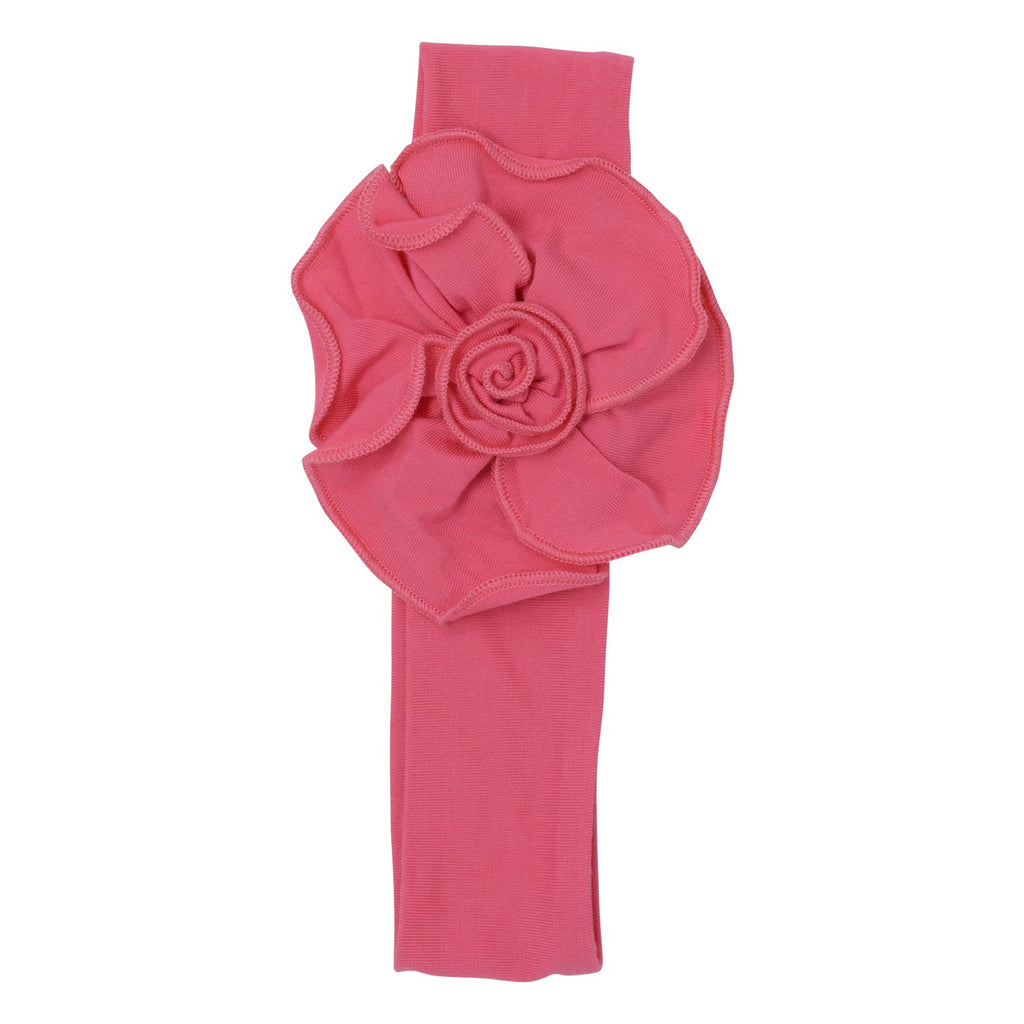 Flower Headband - Pink Rose - Sweet Bamboo