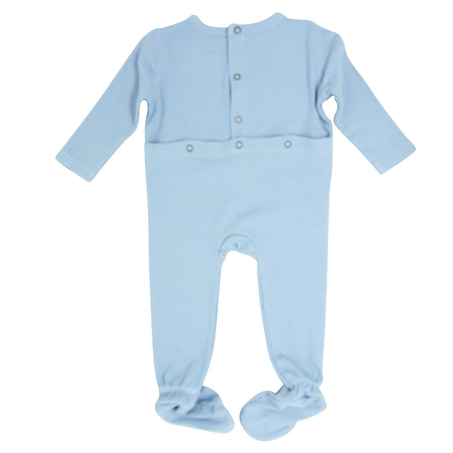 Footie with Bum Flap - Bashful Blue - Sweet Bamboo