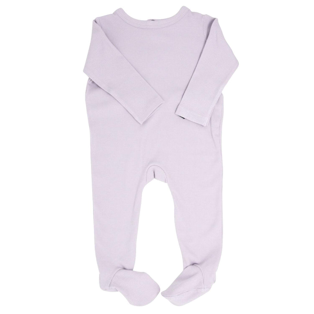 Footie with Bum Flap - Orchid Hush Ribbed Ribbed - Sweet Bamboo