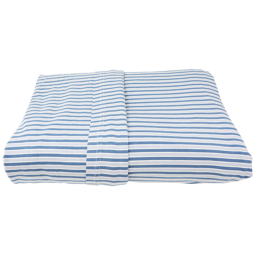 Full Sheet Set (Fitted + 2 Pillow Cases) - Blue Stripe - Sweet Bamboo