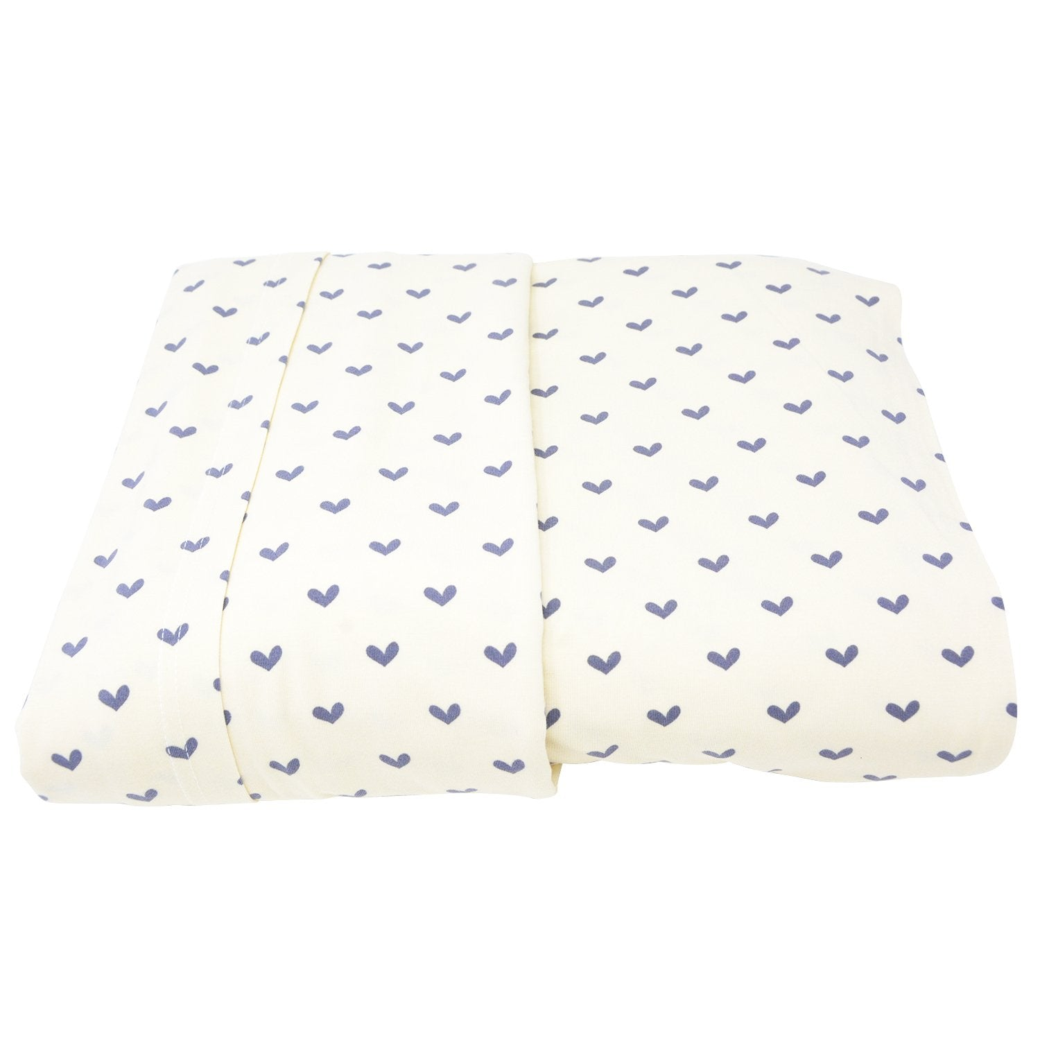 Full Sheet Set (Fitted + 2 Pillow Cases) - Polka Hearts Black - Sweet Bamboo