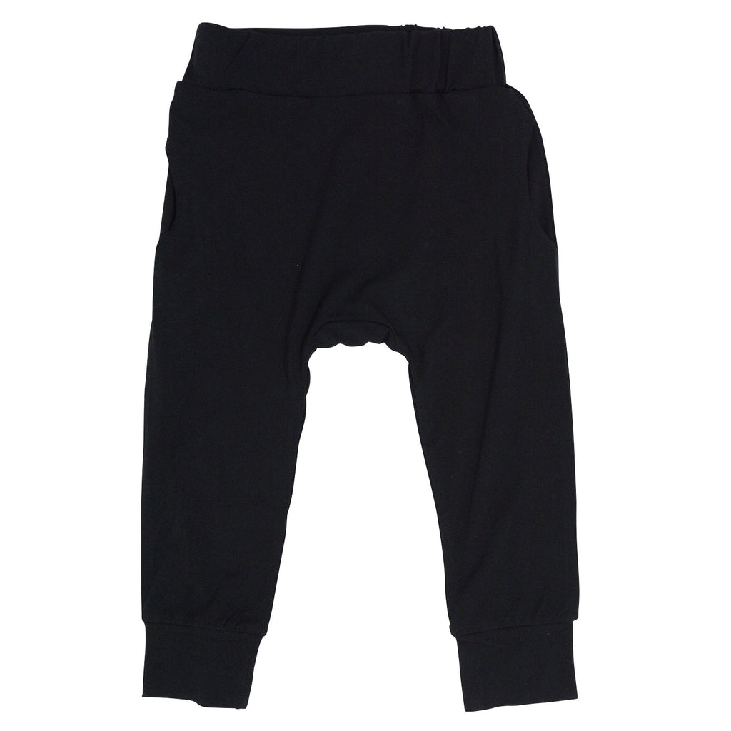 Harem Pants - Blazing Black - Sweet Bamboo