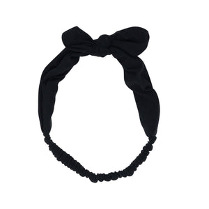 Headband -Black Solid - Sweet Bamboo