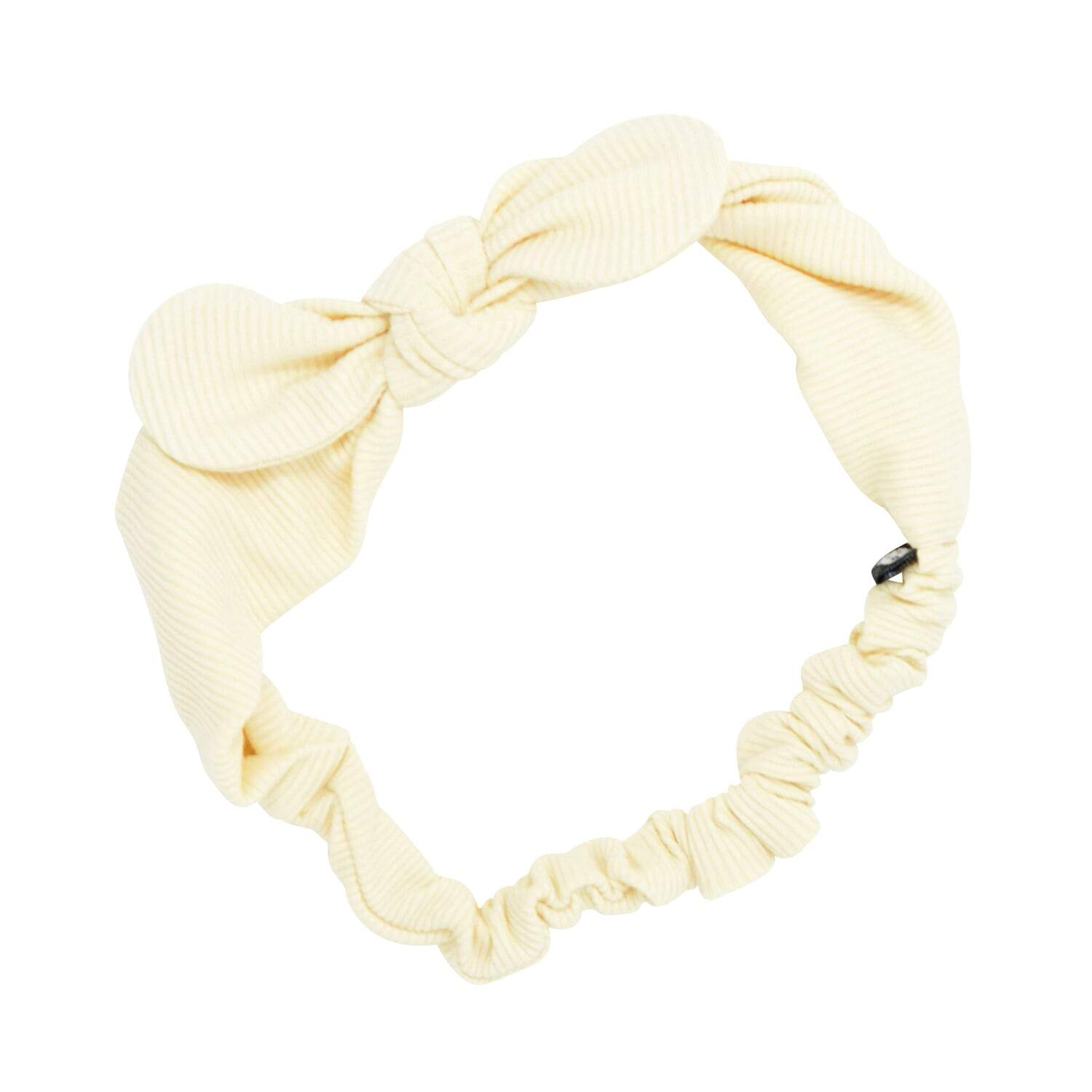 Headband With Bow - Bleached Sand Ribbed - Sweet Bamboo