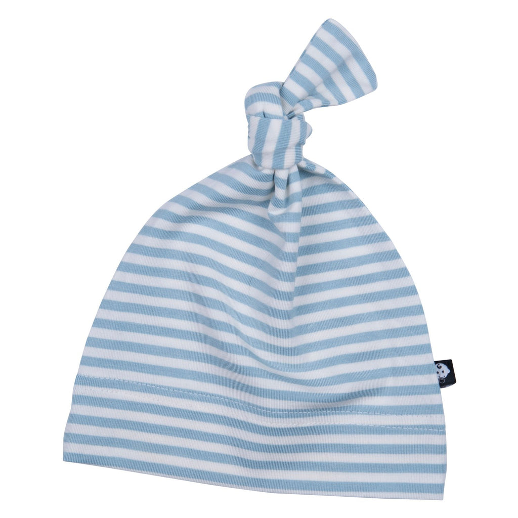 Knot Cap - Match Stitch-Blue Mini Stripe - Sweet Bamboo