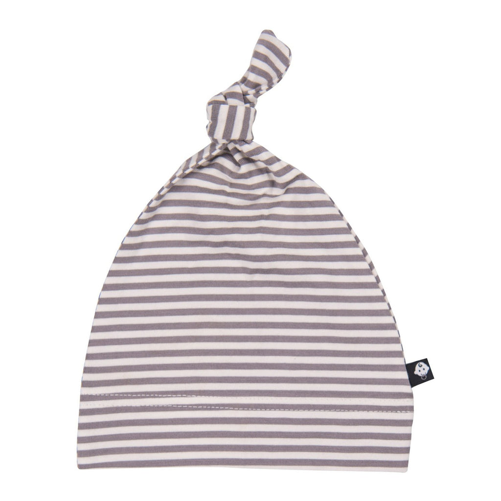 Knot Cap - Match Stitch-Grey Mini Stripe - Sweet Bamboo