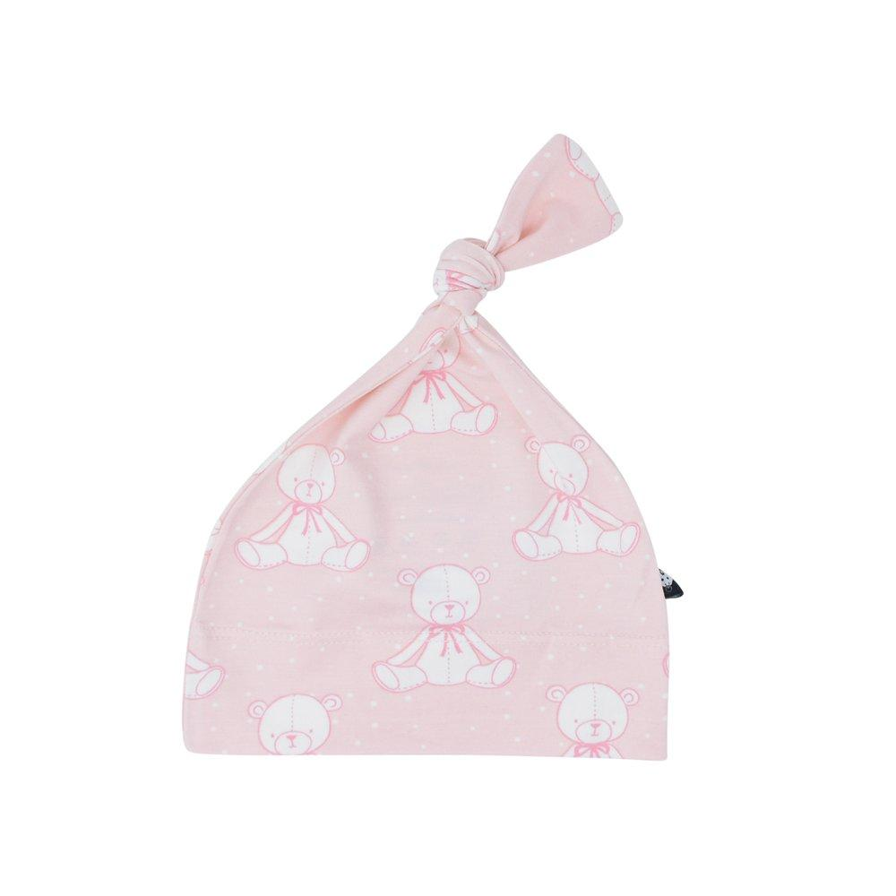 Knot Hat -  Bears Pink - Sweet Bamboo