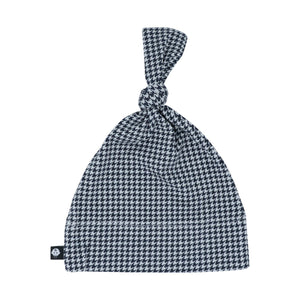 Knot Hat - Black Houndstooth - Sweet Bamboo