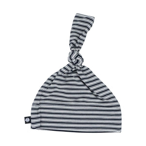 Knot Hat - Black Ticking Stripe - Sweet Bamboo