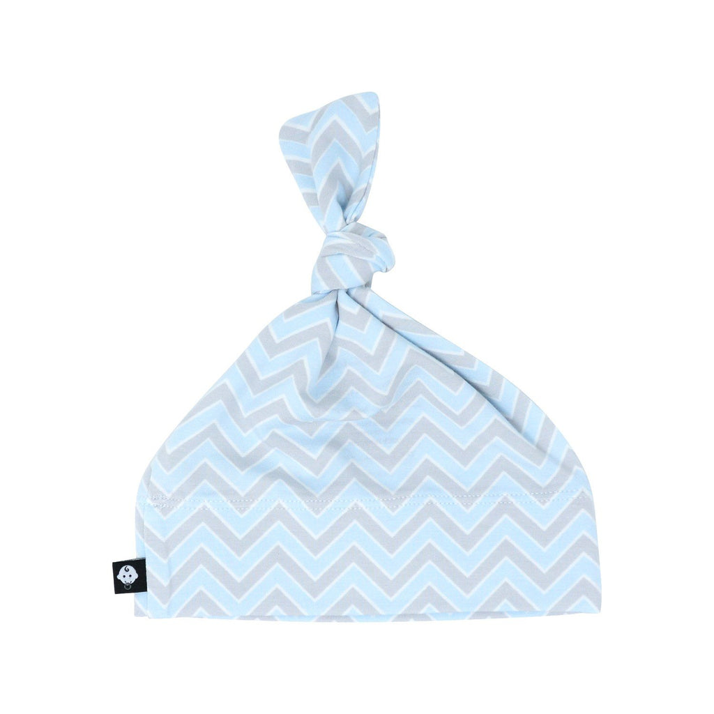 Knot Hat - Blue Chevron - Sweet Bamboo