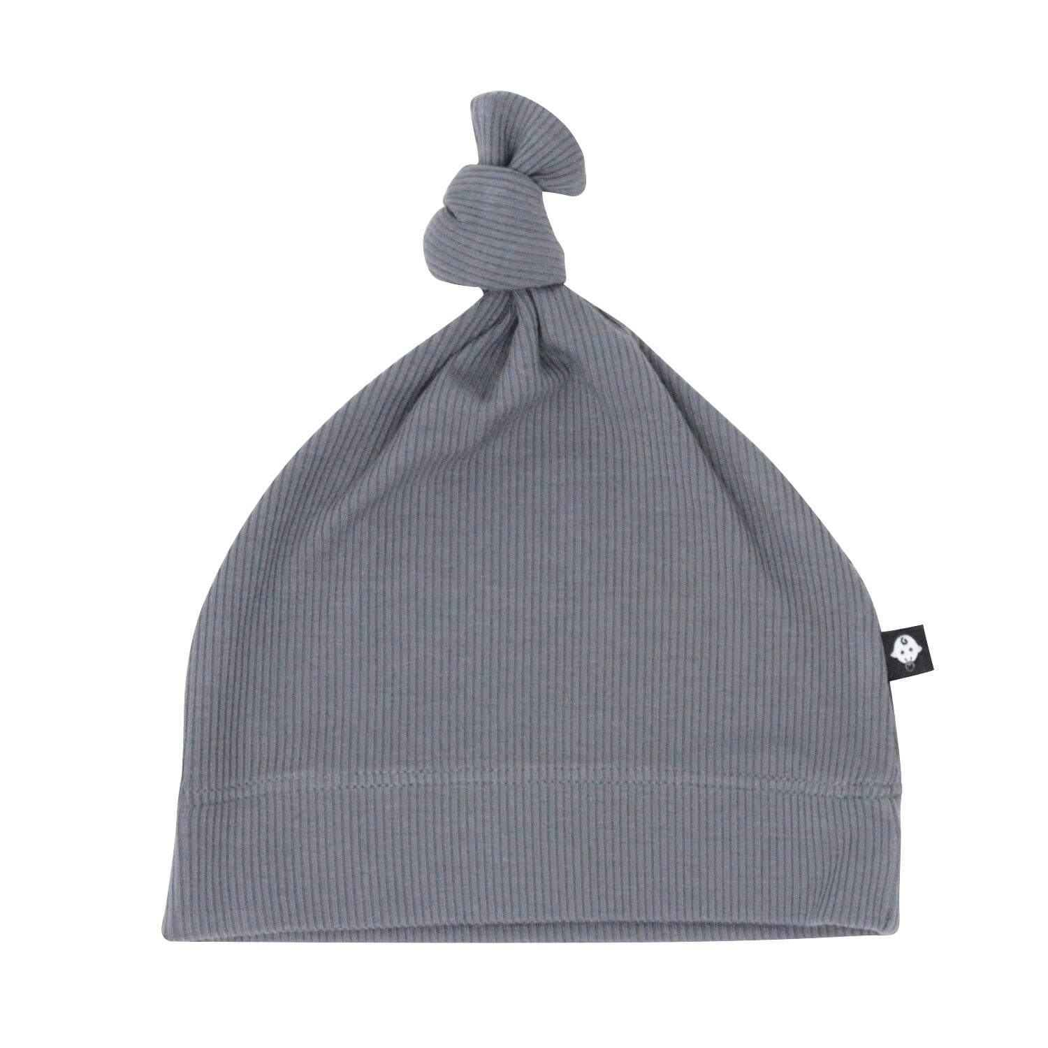 Knot Hat - Charcoal Ribbed - Sweet Bamboo