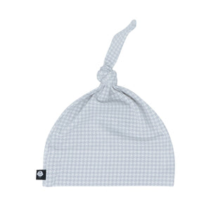 Knot Hat - Grey Houndstooth - Sweet Bamboo