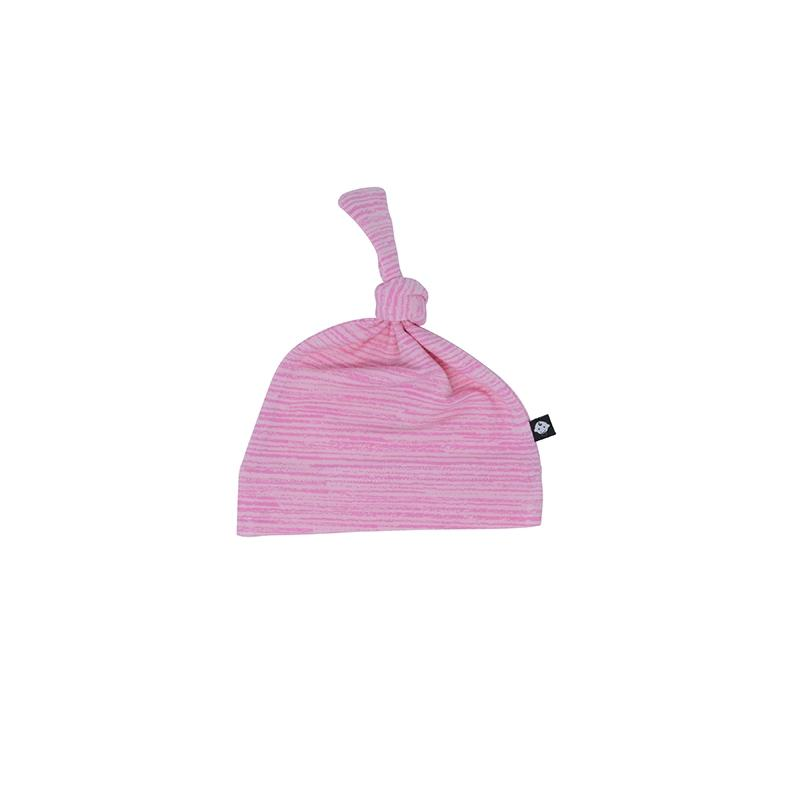 Knot Hat - Pink Chalk Lines - Sweet Bamboo