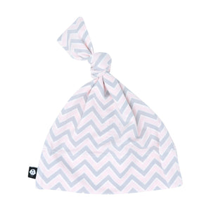 Knot Hat - Pink Chevron - Sweet Bamboo