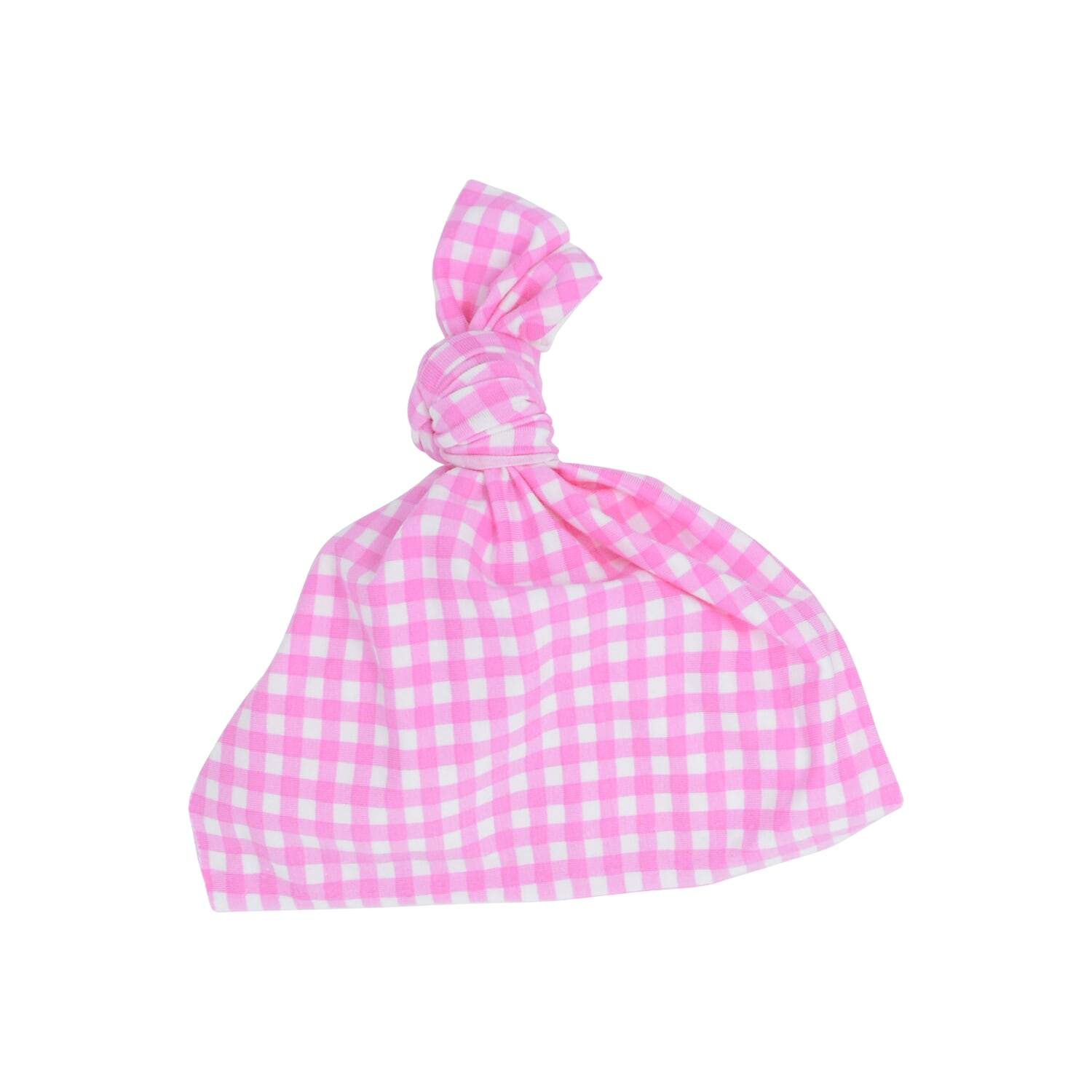 Knot Hat - Pink Gingham - Sweet Bamboo
