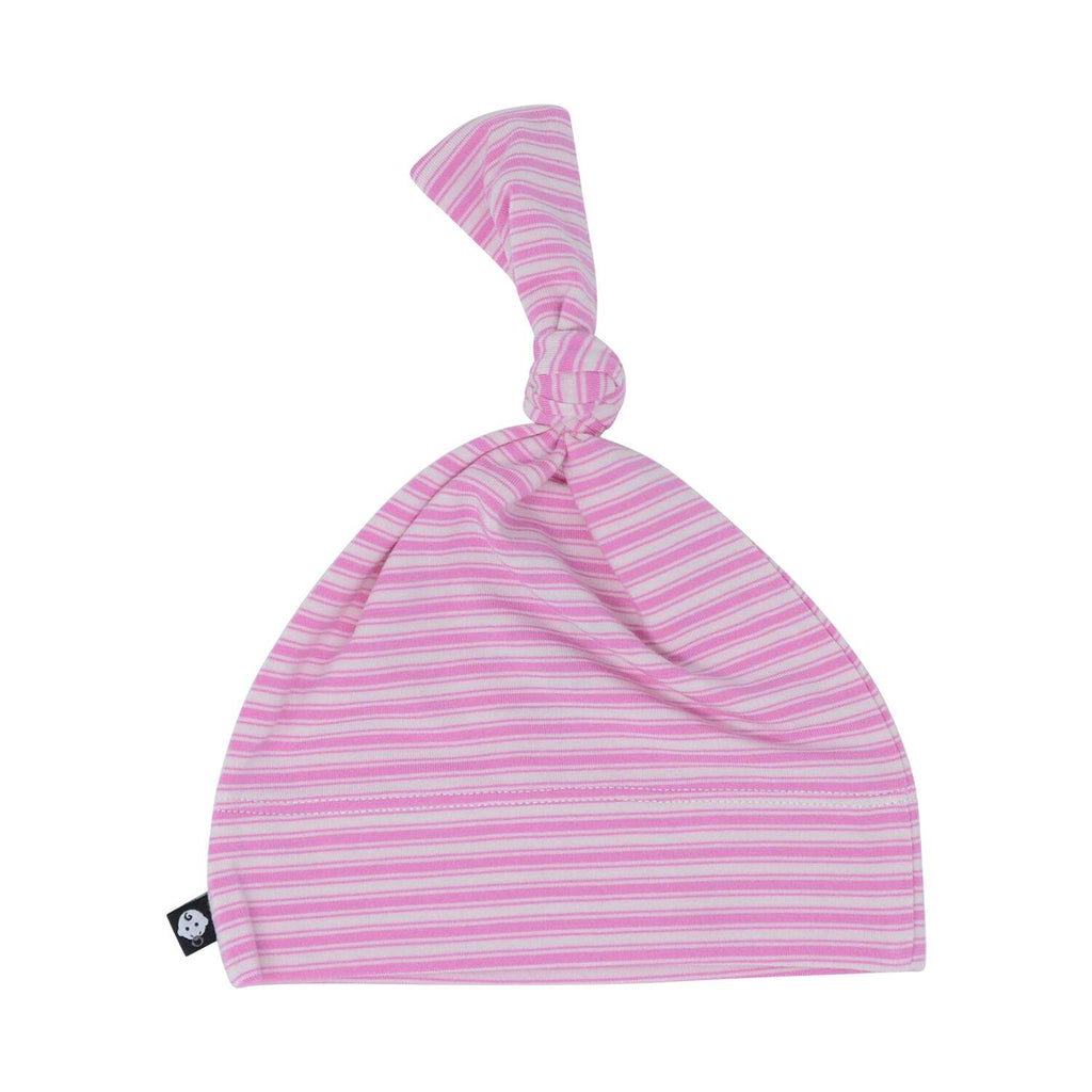 Knot Hat - Pink Ticking Stripe - Sweet Bamboo