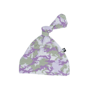 Knot Hat - Purple Camo - Sweet Bamboo