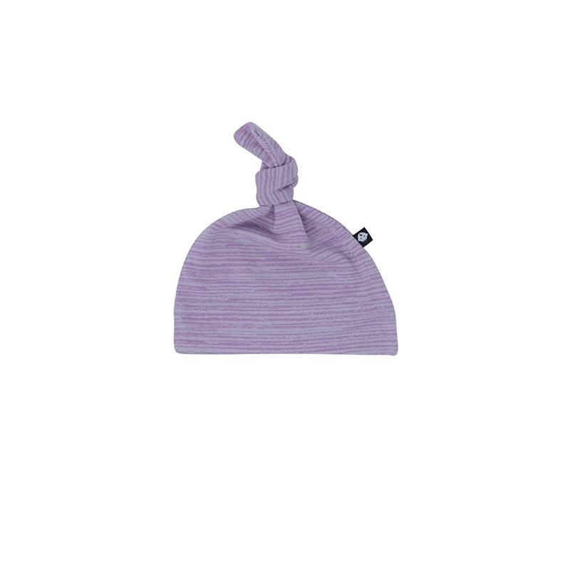 Knot Hat - Purple Chalk Lines - Sweet Bamboo