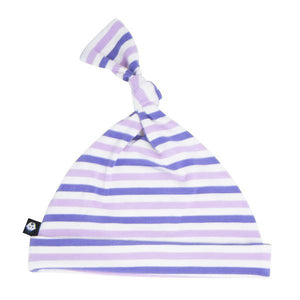 Knot Hat - Purple & Orchid Stripe Accessories sweetbambooclothing