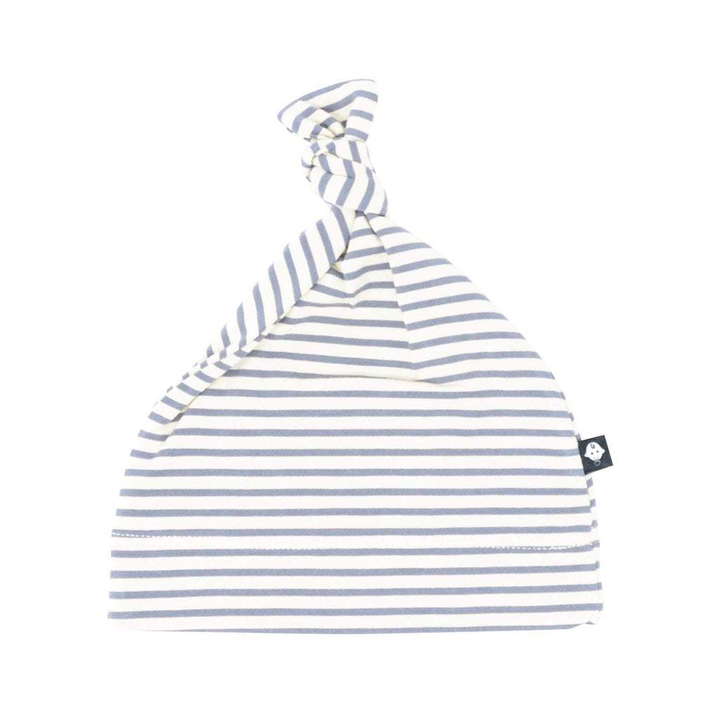 Knot Hat - Sand with Black Mini Stripe - Sweet Bamboo