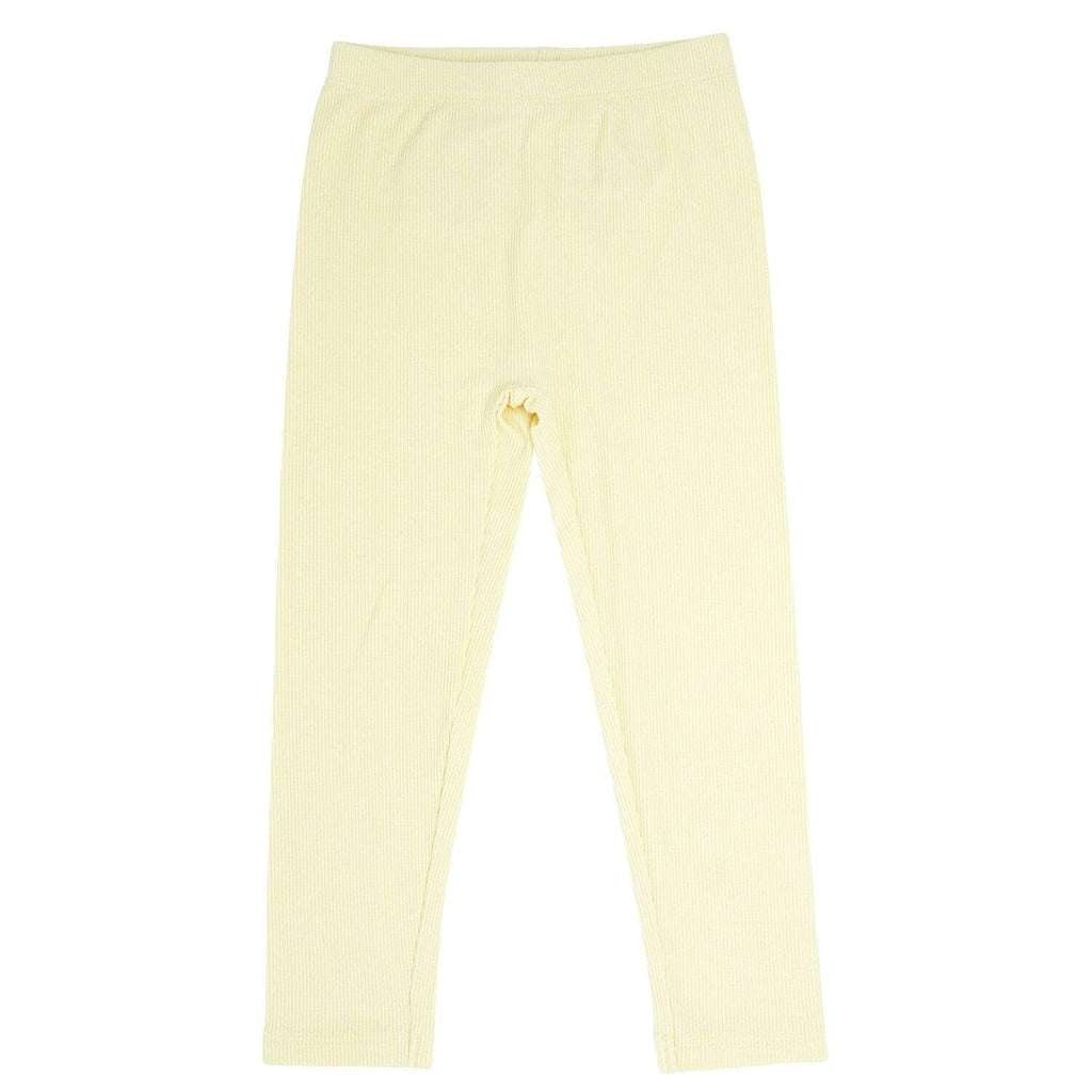 Leggings - Bleached Sand Ribbed - Sweet Bamboo
